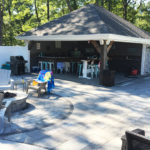 Pool house patio design